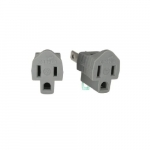 2-Wire to 3-Wire Outlet Converter w/Grounding Lug