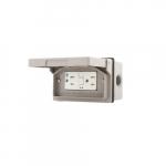15 Amp GFCI Receptacle Kit, Tamper Resistant, Horizontal Mounting, Gray
