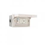 15 Amp GFCI Receptacle Kit, Tamper Resistant, Horizontal Mounting, White
