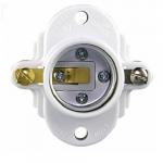 660W Cleat Socket, Medium Base, Thermoset, Keyless Switch, White