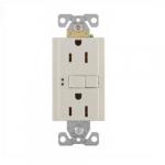 15 Amp Duplex GFCI Receptacle Outlet, Almond