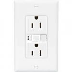 15 Amp Duplex GFCI NAFTA-Compliant Receptacle Outlet, White