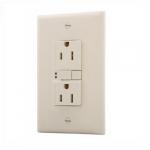 15 Amp Duplex GFCI Receptacle Outlet, Light Almond