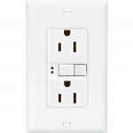 15 Amp Duplex GFCI Receptacle Outlet, White, Pack of 50