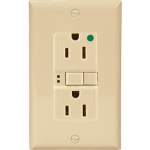 15 Amp Hospital Grade GFCI Receptacle Outlet w/ ArrowLink Connector, Ivory