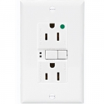 15 Amp Hospital Grade GFCI Receptacle Outlet, White
