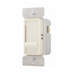 600W Slide Dimmer, Incandescent/Halogen, Single Pole, Almond