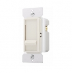 600W Slide Dimmer, Incandescent/Halogen, Single Pole, Light Almond