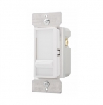 600W Slide Dimmer, Incandescent/Halogen, Single Pole, White