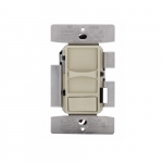 1000W Universal Slide Dimmer, Phase Selectable, Ivory