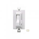 Color Change Faceplate for Toggle AL Series Dimmer, Almond