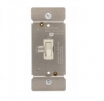 600W Toggle Dimmer, Non-Preset, Single Pole, Almond