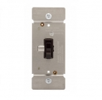 600W Toggle Dimmer, Non-Preset, Single Pole, Brown