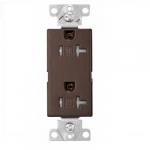 20 Amp Duplex Receptacle, Decora, Tamper Resistant, Oil Rubbed Bronze