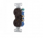 15 Amp Tamper Resistant Duplex Receptacle, Brown
