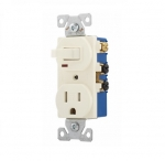 15 Amp Combination Switch, Tamper Resistant, Almond