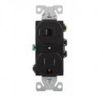 15  Amp Combination Switch, Tamper Resistant, Black