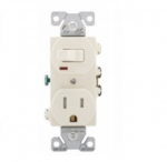 15 Amp Combination Switch, Tamper Resistant, Light Almond