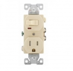 15 Amp Combination Switch, Tamper Resistant, Ivory