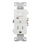 15 Amp Combination Switch, Tamper Resistant, White