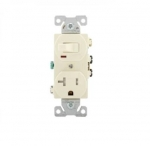 20 Amp Combination Switch, Tamper Resistant, Almond