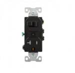 20 Amp Combination Switch, Tamper Resistant, Black