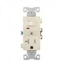 20 Amp Combination Switch, Tamper Resistant, Light Almond