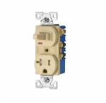 20 Amp Combination Switch, Tamper Resistant, Ivory