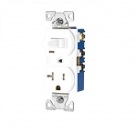 20 Amp Combination Switch, Tamper Resistant, White