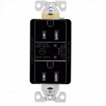 15 Amp Duplex Receptacle w/ Surge Protection & LED Indicator, 2-Pole, 125V, Black