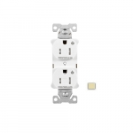 15 Amp Dual Controlled Duplex Receptacle, Tamper Resistant, Ivory