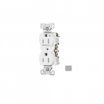 15 Amp Half Controlled Duplex Receptacle, Tamper Resistant, Gray