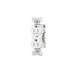 15 Amp Half Controlled Duplex Receptacle, Tamper Resistant, White