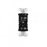 20 Amp Half Controlled Duplex Receptacle, Tamper Resistant, Black
