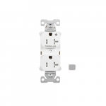 20 Amp Half Controlled Duplex Receptacle, Tamper Resistant, Gray