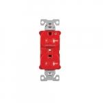 Arrow Hart 20 Amp Half Controlled Duplex Receptacle, Tamper Resistant, Red