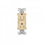 Arrow Hart 20 Amp Half Controlled Duplex Receptacle, Tamper Resistant, Ivory