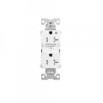 Arrow Hart 20 Amp Half Controlled Duplex Receptacle, Tamper Resistant, White