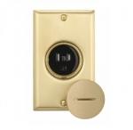 15 Amp Floor Box Receptacle, Tamper Resistant, Brass