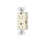 Arrow Hart 15 Amp Dual Controlled Decorator Receptacle, Tamper Resistant, Light Almond
