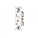 Arrow Hart 15 Amp Half Controlled Decorator Receptacle, Tamper Resistant, White