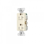 20 Amp Dual Controlled Decorator Receptacle, Tamper Resistant, Light Almond