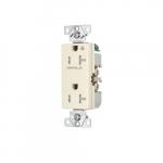 20 Amp Half Controlled Decorator Receptacle, Tamper Resistant, Light Almond
