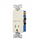 15 Amp Decora Switch w/ Receptacle, Tamper Resistant, Almond