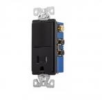 15 Amp Decora Switch w/ Receptacle, Tamper Resistant, Black