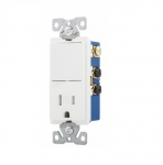 15 Amp Decora Switch w/ Receptacle, Tamper Resistant, White