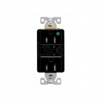 15 Amp Surge Protection Receptacle w/Audible Alarm & LED Indicators, Black