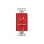 15 Amp Surge Protection Receptacle, Audible Alarm & LED Indicators, Red