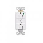 15 Amp Surge Protection Receptacle, Hospital Grade, White
