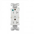 20 Amp Duplex Receptacle, NEMA 5-20R, 2-Pole, White